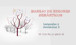 MANEJO DE ERRORES SEMÁNTICOS