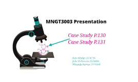MNGT3003 Presentation