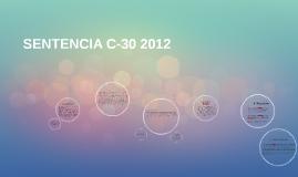 SENTENCIA C-30 2012