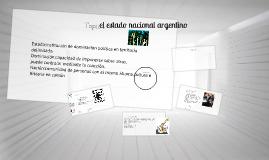 el estado nacional argentino