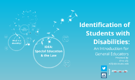 Identification of Students with Disabilities: