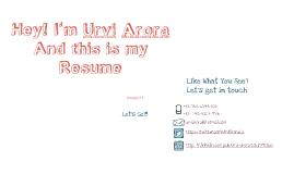 Urvi Arora Resume