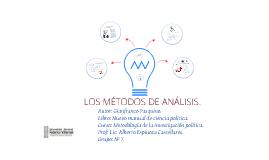 los métodos de análisis