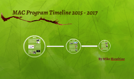 MAC Program Timeline 2015 - 2017