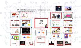 BA 6100 Human Resource Management and Organizational Behavio