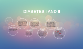 DIABETES I AND II.