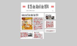 O 25 de Abril de 1974