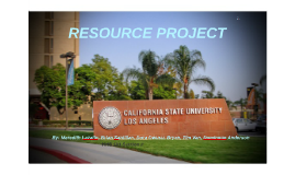 RESOURCE PROJECT
