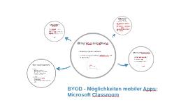 BYOD - Möglichkeiten mobiler Apps;