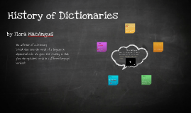 History of Dictionary's