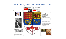 Quebec Under British Rule