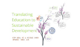 Translating Education to Sustainable Development