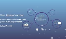 Name: Dimitrius James Ong