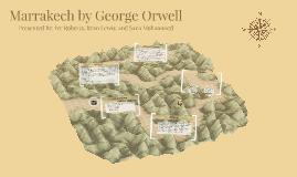 Marrakech is a short essay written by george orwell