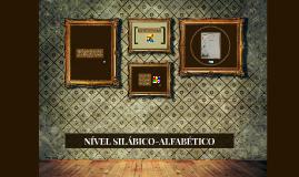 NÍVEL SILÁBICO-ALFABÉTICO