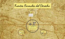 Fuentes Formales del Derecho.
