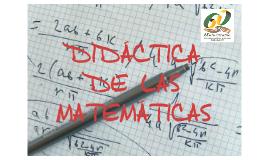Copy of DIDACTICA DE LAS MATEMATICAS