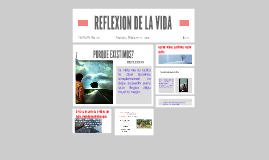 Copy of REFLEXION DE LA VIDA