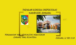 PAPARAN RENSTRA INSPEKTORAT KABUPATEN JOMBANG