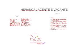 HERANÇA JACENTE E VACANTE