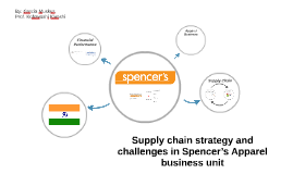 Supply chain strategy and challenges in Spencer's apparel bu
