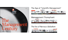 "The Age of ""Scientific Management"""
