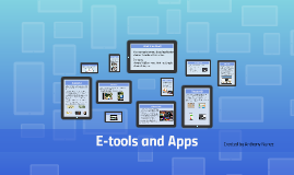 E-tools and Apps