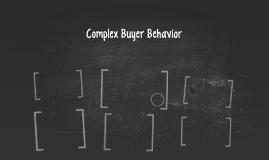 Complex Buyer Behavior