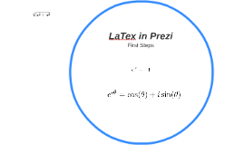 LaTex in Prezi