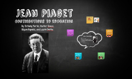 Copy of Jean Piaget's Contributions to Education