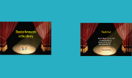 Copy of Musical Theatre and Theatre Resources in the Performing Arts Library