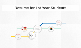 Resume for 1st Year Students