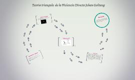Teoría triangulo  de la Violencia Directa Johan Galtung