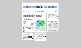 LESSON PLANNING & TEST CONSTRUCTION