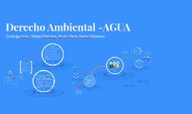 Derecho Ambiental -AGUA