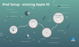 iPad Setup - existing Apple ID