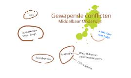Copy of Gewapende conflicten & vredeseducatie