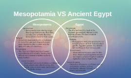 Mesopotamia VS Ancient Egypt