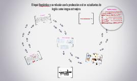 El input lingüistico y su relación con la producción oral en