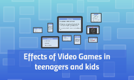 Effects of Video Games in teenagers from Anglophone Countrie