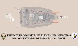 ESTRUCTURA ORGÁNICA DE LAS UNIDADES OPERATIVAS