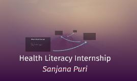 Health Literacy Internship