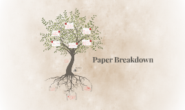 Copy of Paper Breakdown