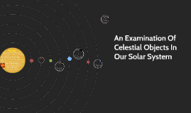 An Examination Of Celestial Objects In Our Solar System