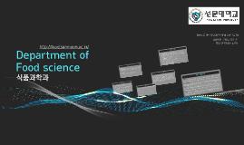 Department of Food science