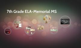 7th Grade ELA-Memorial MS