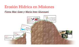 Erosión Hídrica en Misiones