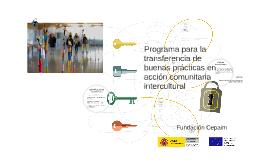 Programa para la transferencia de buenas prácticas en acción