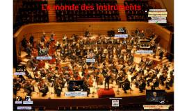 1. Le monde des instruments