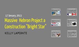 Economics - The Hebron Project
